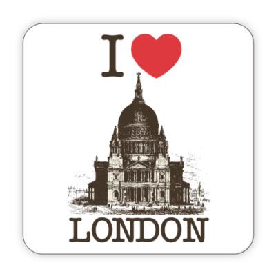 Костер (подставка под кружку) Я люблю Лондон