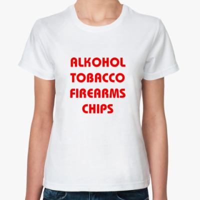 Классическая футболка Chips (жен.)