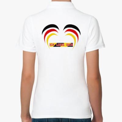 Женская рубашка поло Я люблю тебя по-немецки
