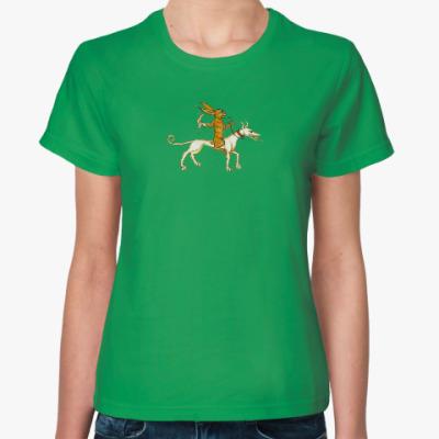 Женская футболка Охота наоборот