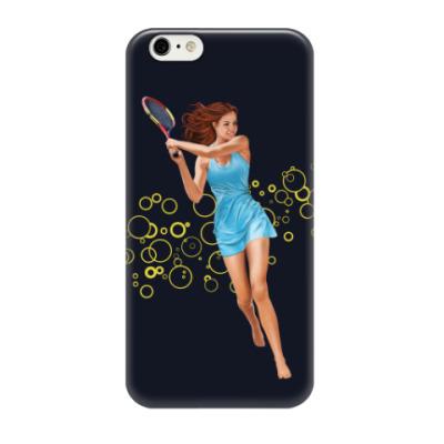 Чехол для iPhone 6/6s Девушка с теннисной ракеткой