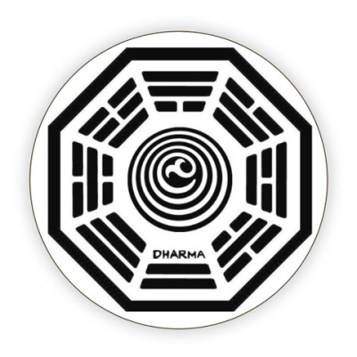 Костер (подставка под кружку) dharma initiative