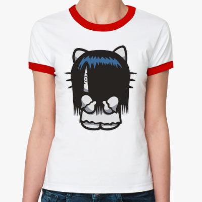 Женская футболка Ringer-T Китти Звонок