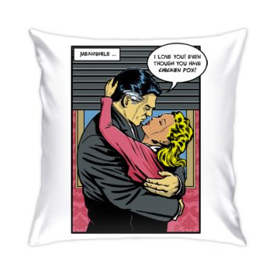 Подушка Страница из ретро комикса