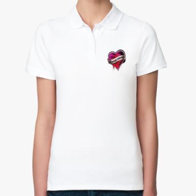 Женская рубашка поло Дневники вампира (Сердце)