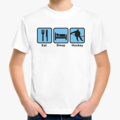 Детская футболка Есть Спать Хоккей