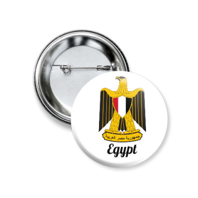 Герб Египта.  Badge with the arms of Egypt.