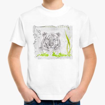Детская футболка Тигр в траве