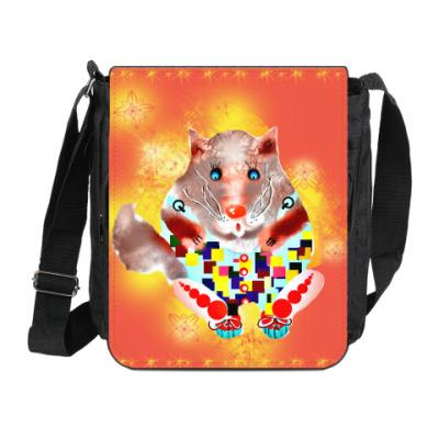 Сумка на плечо (мини-планшет) Солнечный кот