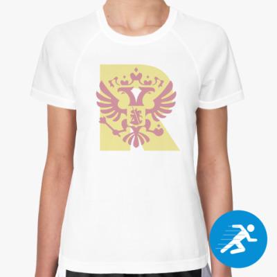 Женская спортивная футболка Россия R Ash Rose