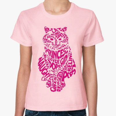 Женская футболка Кот из букв