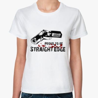 Классическая футболка Proud to be sXe