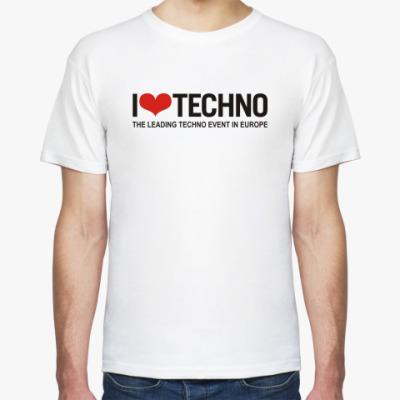 Футболка I love techno