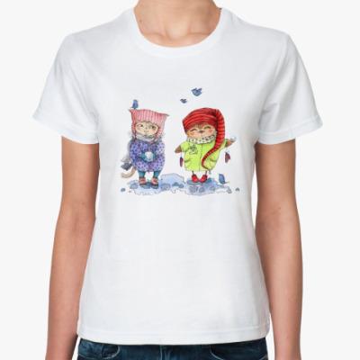 Классическая футболка Снежки
