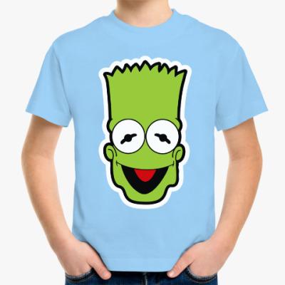 Детская футболка Барт - Кермит