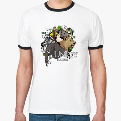 Футболка Ringer-T  Unity nature