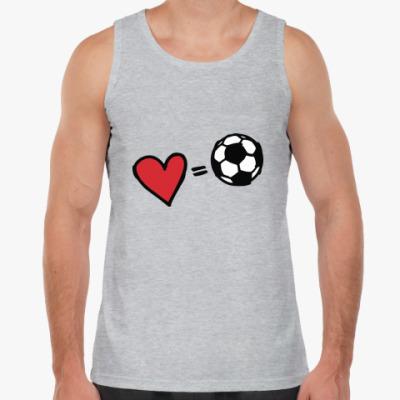 Майка Love equals football