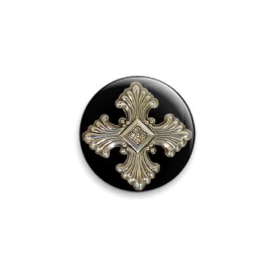 Значок 25мм  Старинный крест