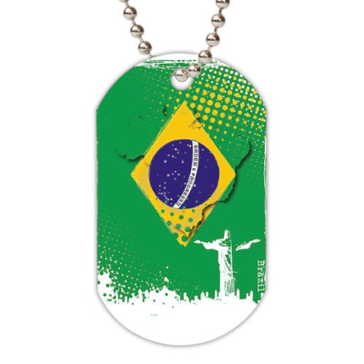Жетон dog-tag Brazil
