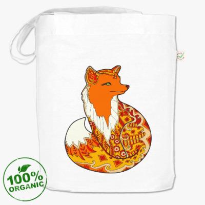 Сумка Изящная лиса зентангл