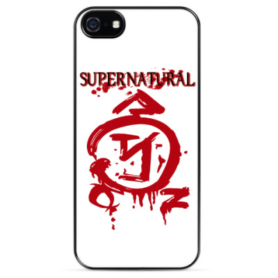 Чехол для iPhone Здесь был Кас - Supernatural