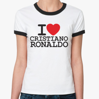 Женская футболка Ringer-T Криштиану Роналду