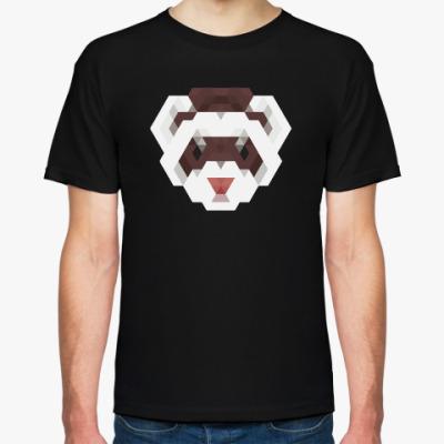Футболка Полигональный медведь