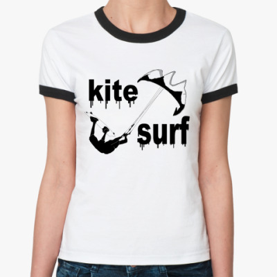 Женская футболка Ringer-T кайт сёрф