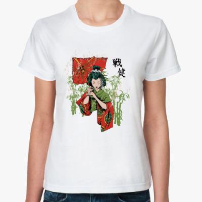 Классическая футболка  Гейша