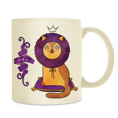 Котик лев в короне