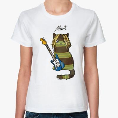 Классическая футболка Murt из серии 'Music cats'