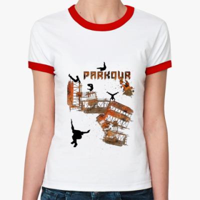 Женская футболка Ringer-T Паркур