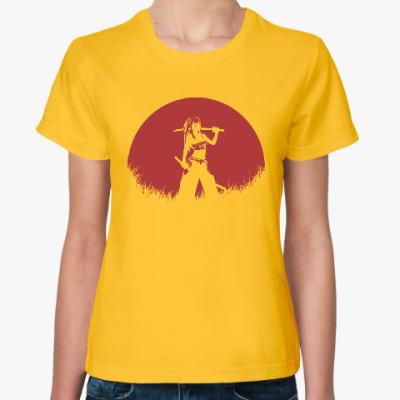 Женская футболка Аниме самурай