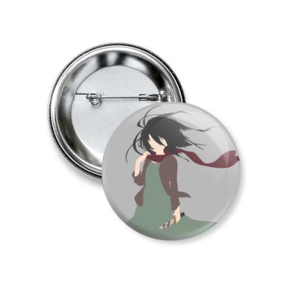Значок 37мм Shingeki no Kyojin Mikasa Микаса