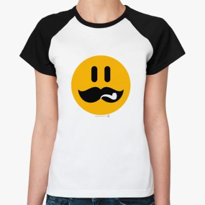 Женская футболка реглан Сталин смаил.