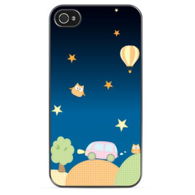 Чехол для iPhone Детские аппликации (ночь)