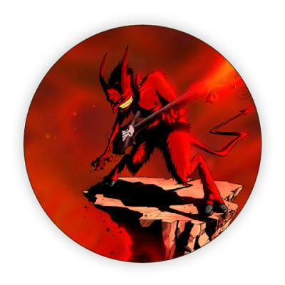 Костер (подставка под кружку) Дьявол-музыкант