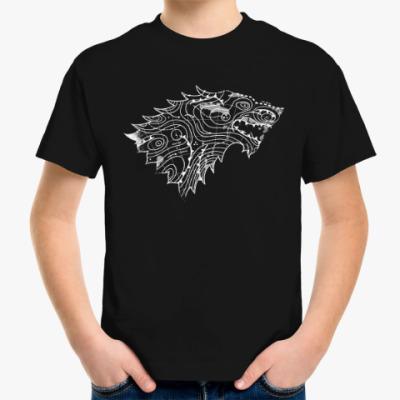 Детская футболка Герб Старков и крата Вестероса