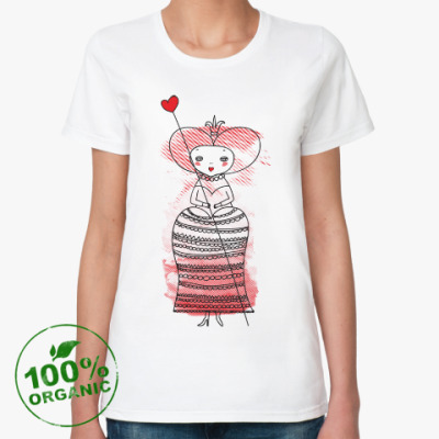 Женская футболка из органик-хлопка Queen of Hearts, Alice's Adventures in Wonderland