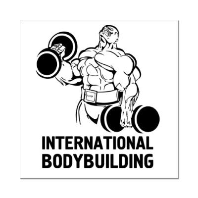Наклейка (стикер) bodybuilding