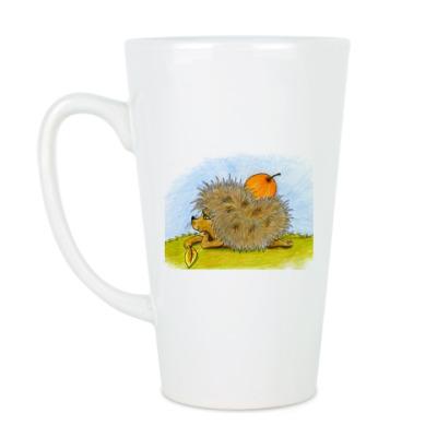 Чашка Латте Ёжики