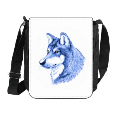 Сумка на плечо (мини-планшет) 'Лесной волк'