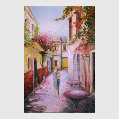 Постер Прогулка по цветущей улице