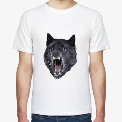 Футболка волк