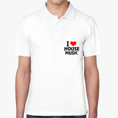 Рубашка поло i love house music