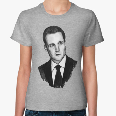 Женская футболка Harvey Specter_Gabriel Macht_Suits_Форс-мажоры