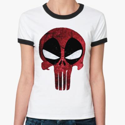 Женская футболка Ringer-T Дэдпул: Каратель / Deadpool