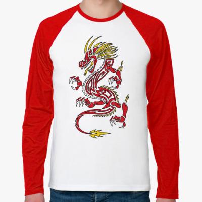Футболка реглан с длинным рукавом Дракон