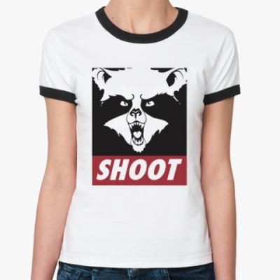 Женская футболка Ringer-T Raccoon Shoot