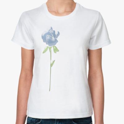 Классическая футболка Синяя роза